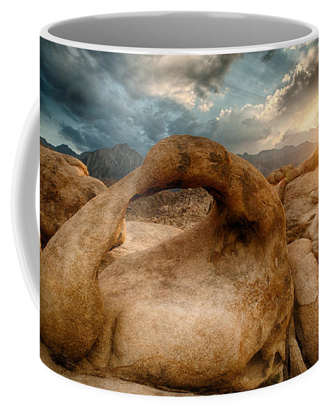 Sunset Coffee Mug featuring the photograph Sunset At Mobius Arch by Cat Connor