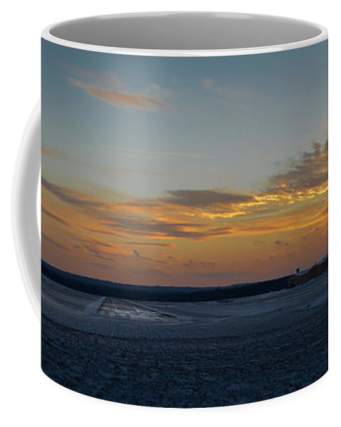 Sunset Coffee Mug featuring the photograph Sunset At Pocono Airport by Gary Keesler