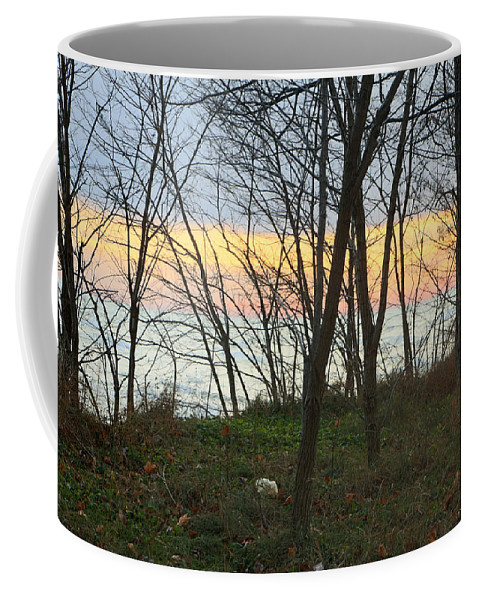 Centre Island Coffee Mug featuring the photograph Sunset At The Island by Munir Alawi