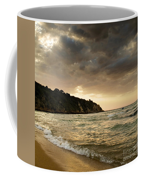 Travel Coffee Mug featuring the photograph Sunset Beach by Tim Hester