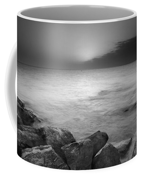 Black And White Coffee Mug featuring the photograph Sunset Before The Storm by Guido Montanes Castillo