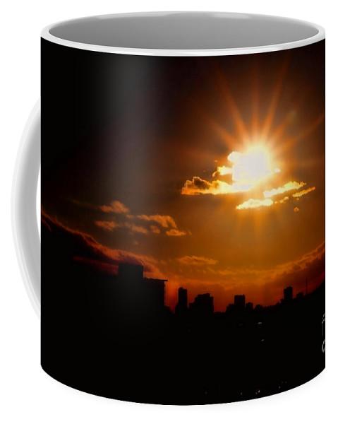 Sunset Coffee Mug featuring the photograph Sunset Behind Ft. Lauderdale By Diana Sainz by Diana Raquel Sainz