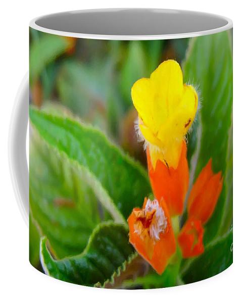 Sunset Bells Flower Coffee Mug featuring the painting Sunset Bells Flower by Jeelan Clark