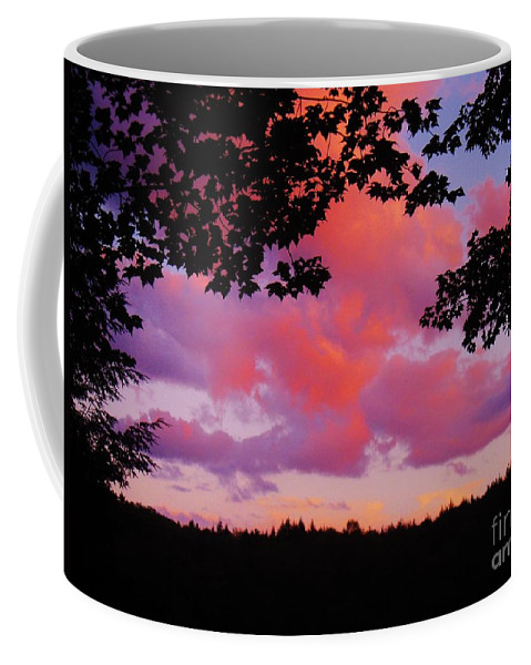 Sunset Clouds Coffee Mug featuring the photograph Sunset Clouds by Janell R Colburn