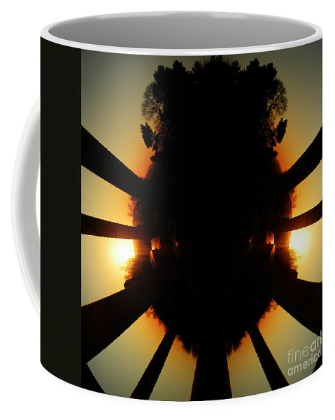 Sunrise Coffee Mug featuring the photograph Sunset Folly by Neil Finnemore