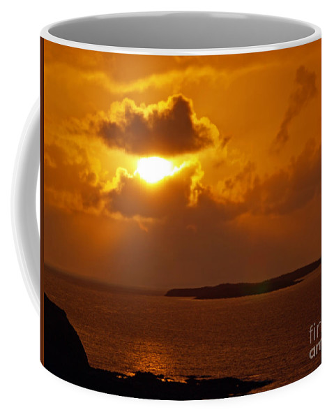 Fine Art Photography Coffee Mug featuring the photograph Sunset From The Dolphin Watch Cottage by Patricia Griffin Brett