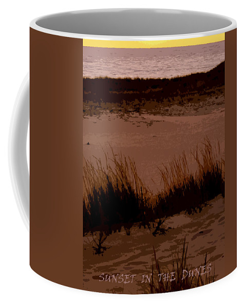 Travel Coffee Mug featuring the photograph Sunset In The Dunes by Michelle Calkins