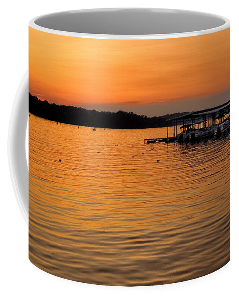 Tennessee Coffee Mug featuring the photograph Sunset Marina by Diana Powell