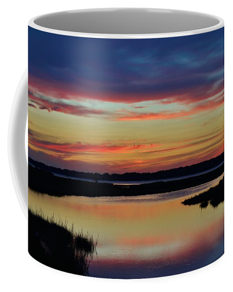 Beach Bum Pics Coffee Mug featuring the photograph Sunset Marsh by William Bartholomew