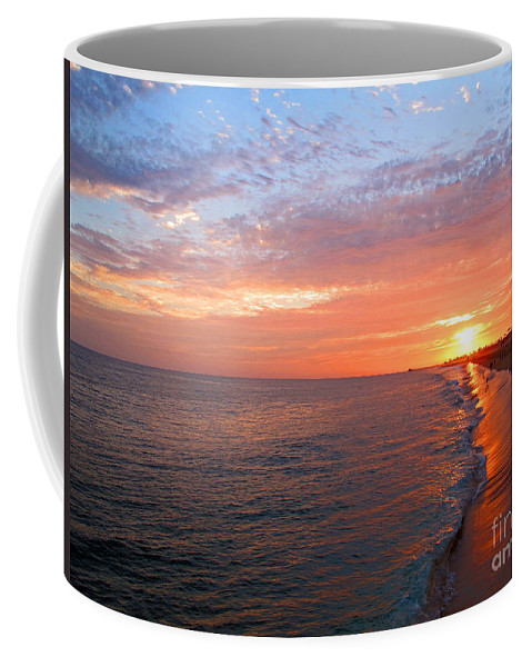 Sunset Coffee Mug featuring the photograph Sunset On Balboa by Kelly Holm