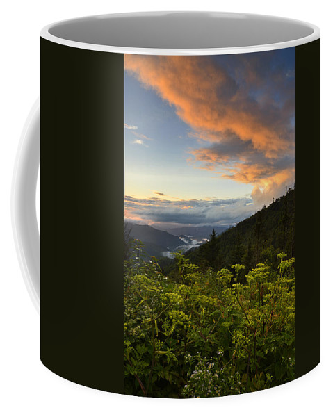 Sunset Coffee Mug featuring the photograph Sunset On Clingman's Dome by Eric Albright
