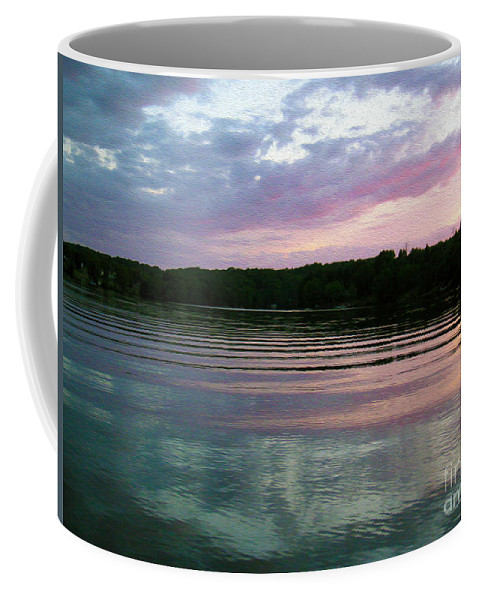 Sunset Coffee Mug featuring the photograph Sunset On Gull Lake by Nina Silver