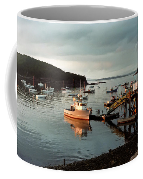 Bay Coffee Mug featuring the photograph Sunset On Mount Desert Island Maine by Thomas Marchessault