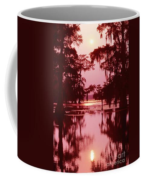 North America Coffee Mug featuring the photograph Sunset On The Bayou Atchafalaya Basin Louisiana by Dave Welling