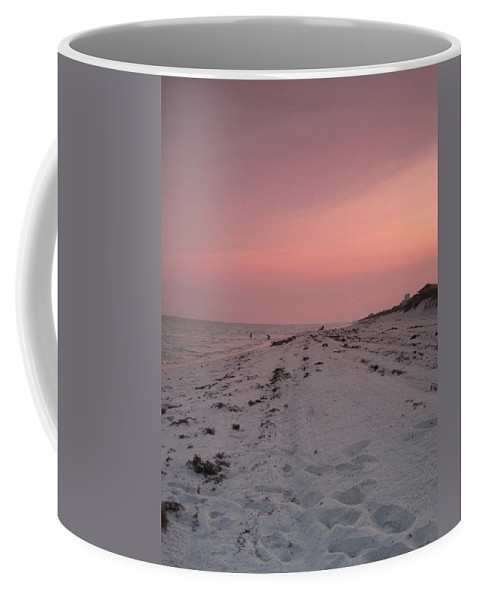 Landscape Coffee Mug featuring the photograph Sunset On The Beach by Megan Cohen