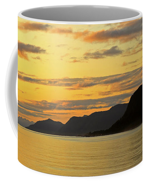 Sun Coffee Mug featuring the photograph Sunset On The Gulf Of Alaska by Claudio Bacinello