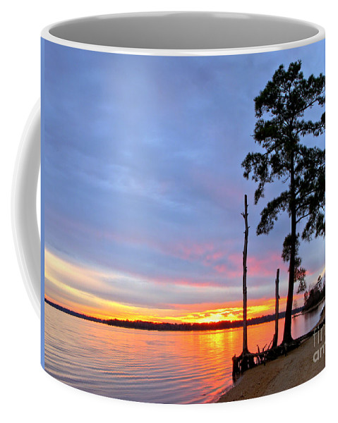 James River Coffee Mug featuring the photograph Sunset On The James River by Olivier Le Queinec