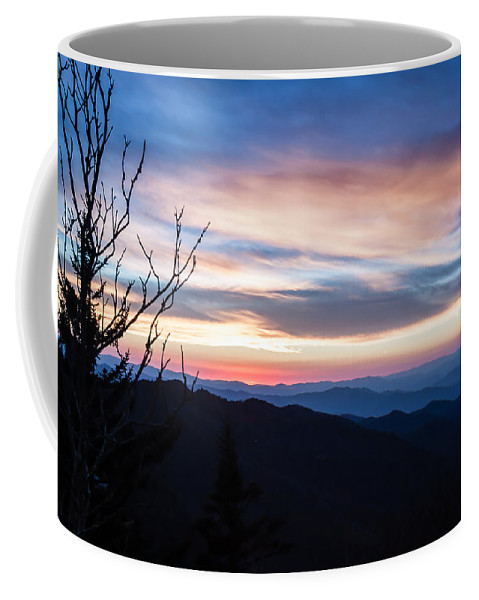 Sunset Coffee Mug featuring the photograph Sunset On Water Rock Knob Blue Ridge Parkway Scenic Photo by Rob Travis