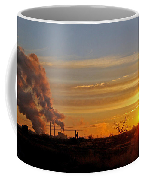 Sunset Coffee Mug featuring the photograph Sunset Out West by Shirley Roberson