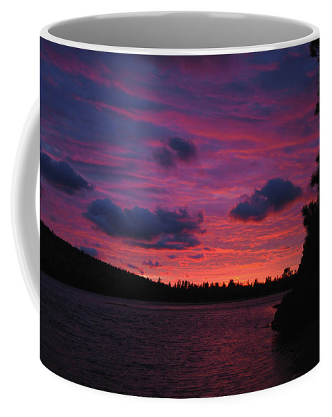 Optical Playground By Mp Ray Coffee Mug featuring the photograph Sunset Over Lake Bailey by Optical Playground By MP Ray