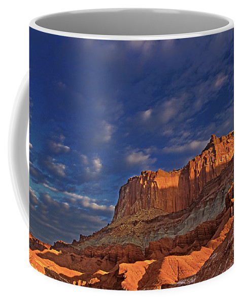 North America Coffee Mug featuring the photograph Sunset Over The Waterpocket Fold Capitol Reef National Park by Dave Welling