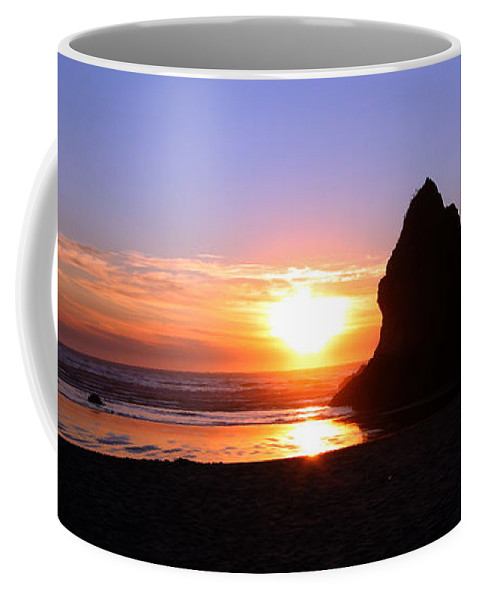 Sunset Coffee Mug featuring the photograph Sunset Reflections by Nick Gustafson