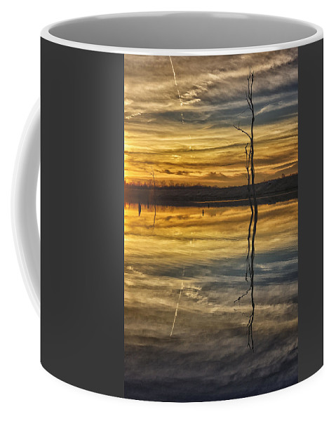 Sunset Coffee Mug featuring the photograph Sunset Riverlands West Alton Mo Dsc03317 by Greg Kluempers