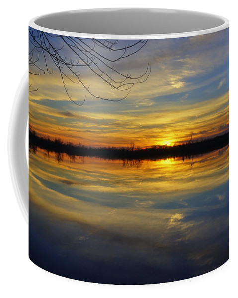 Sunset Coffee Mug featuring the photograph Sunset Riverlands West Alton Mo Dsc03329 by Greg Kluempers