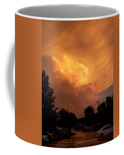 Sunset Coffee Mug featuring the photograph Sunset Storm by Nick Mosher