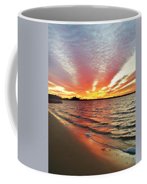 Beach Bum Pics Coffee Mug featuring the photograph Sunset Streaks by William Bartholomew