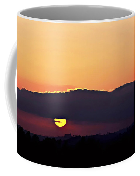 Digital Paint Effect Coffee Mug featuring the photograph Sunset Watching by Sharon Tate Soberon