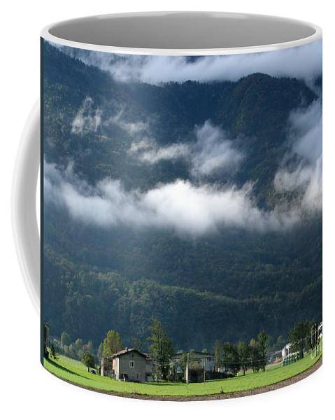 Sunshine Coffee Mug featuring the photograph Mountain Clouds by Phil Banks