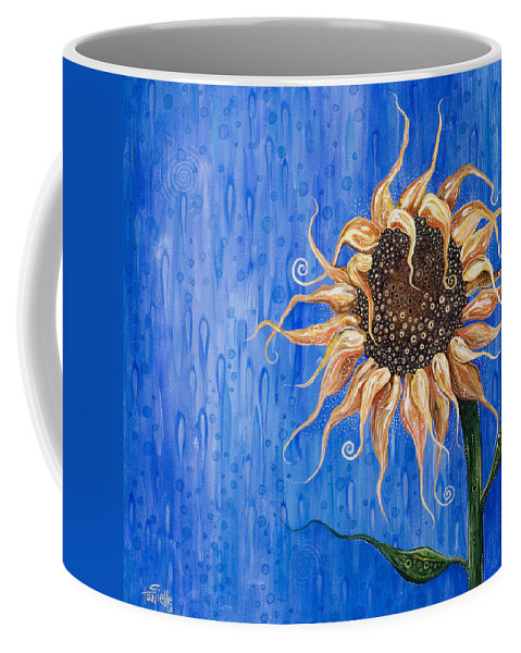 Floral Coffee Mug featuring the painting Sunshine After The Rain by Tanielle Childers