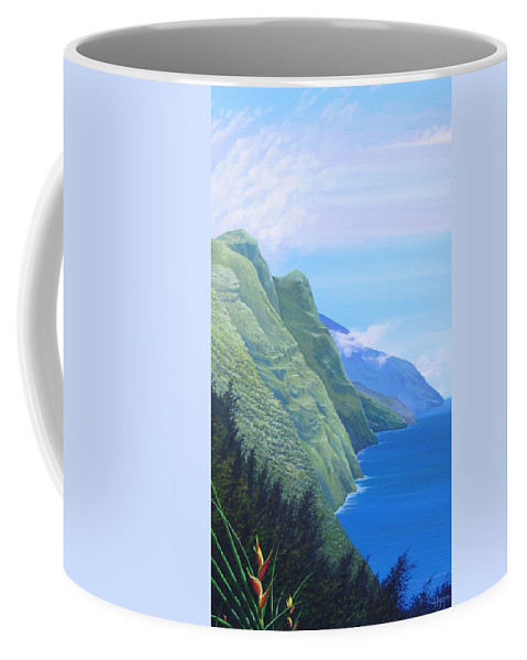 Landscape Coffee Mug featuring the painting Sunshine In The Shade by Hunter Jay