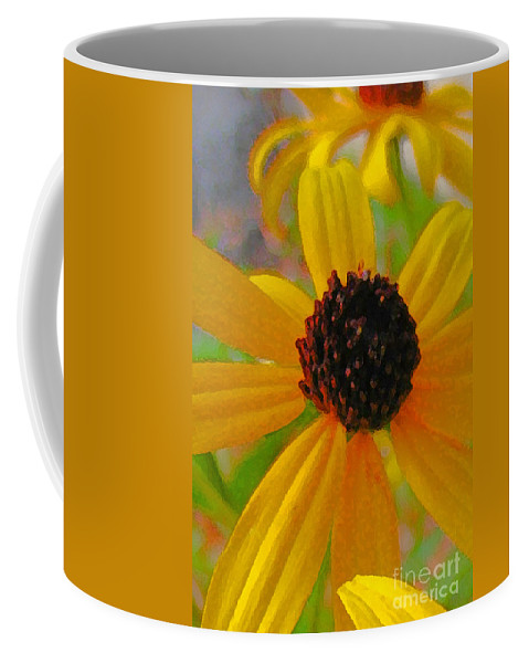 Yellow Coffee Mug featuring the digital art Sunshine On Susan by Jennifer E Doll
