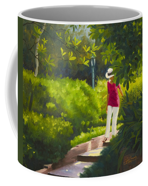 Garden Coffee Mug featuring the painting Sunspots and Shadow by Gary Hernandez