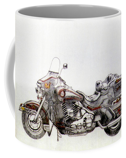 Kick Coffee Mug featuring the drawing Super Smooth by Stephen Brooks