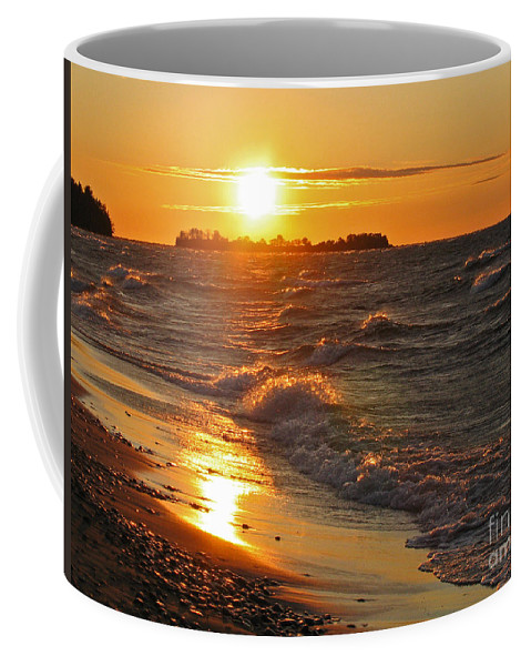 Sunset Coffee Mug featuring the photograph Superior Sunset by Ann Horn