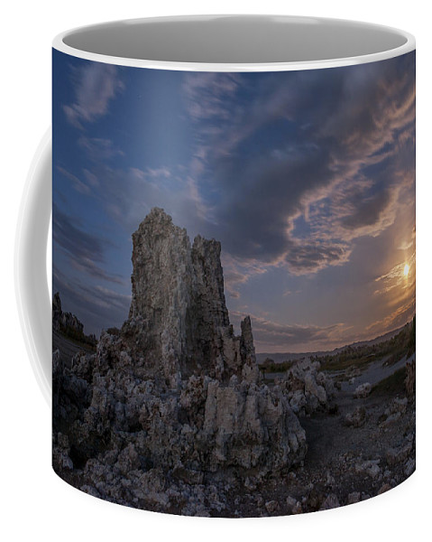 California Coffee Mug featuring the photograph Supermoon At Mono Lake by Cat Connor