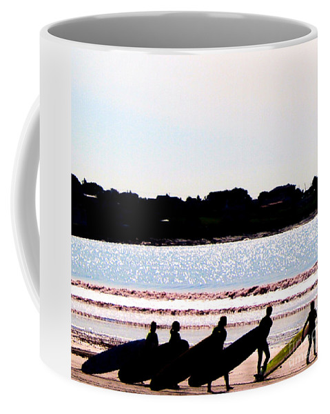 Cape Cod Coffee Mug featuring the photograph Surfer Parade by DAC Photography
