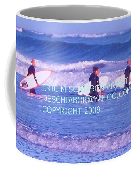 Nature Coffee Mug featuring the photograph Surfs Up by Eric Schiabor