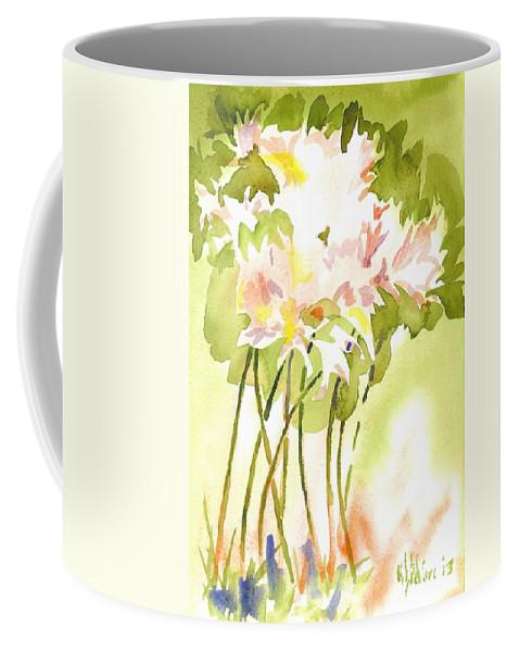 Surprise Lilies Iii A Portrait Coffee Mug featuring the painting Surprise Lilies IIi A Portrait by Kip DeVore
