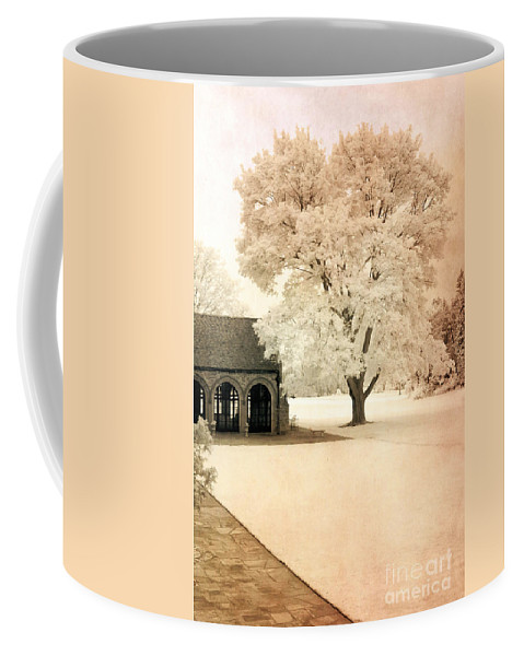 Infrared Coffee Mug featuring the photograph Surreal Ethereal Infrared Sepia Nature Landscape by Kathy Fornal