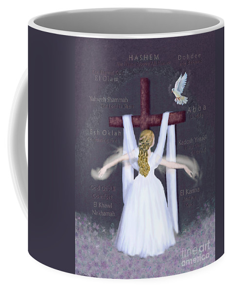 Prophetic Coffee Mug featuring the digital art Surrender 2 by Constance Woods