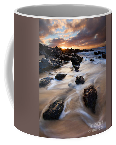 Seascape Coffee Mug featuring the photograph Surrounded By The Tides by Mike Dawson