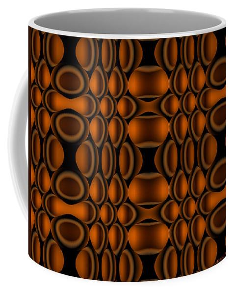 Op Art Coffee Mug featuring the digital art Suspended by Judi Suni Hall