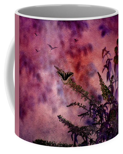 Butterfly Coffee Mug featuring the photograph Swallowtail In The Butterfly Bush - Featured In The Wildlife And Comfortable Art And Newbies Groups by Ericamaxine Price