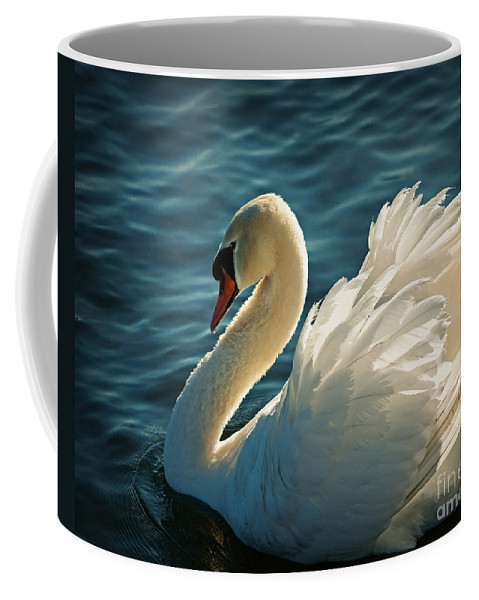 Elegant Coffee Mug featuring the photograph Swan Lake by Edmund Nagele