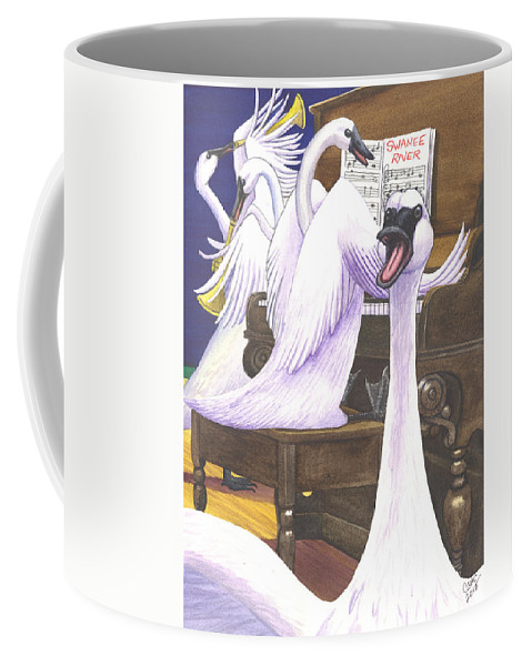 Swan Coffee Mug featuring the painting Swan Song by Catherine G McElroy