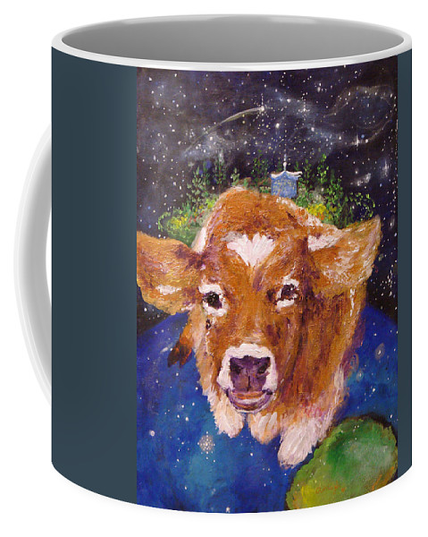 Cow Coffee Mug featuring the painting Sweet Buttercup by Ashleigh Dyan Bayer